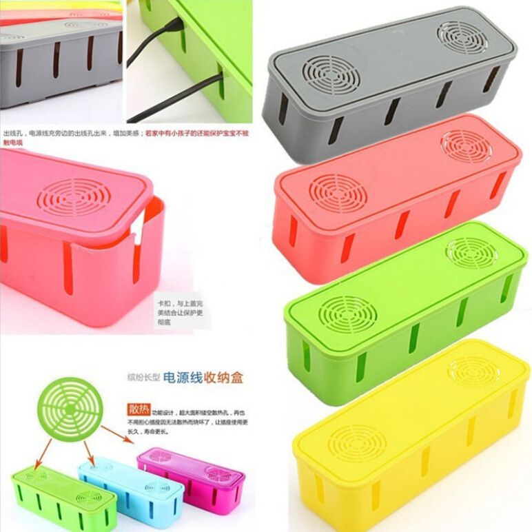 Cablebox Power wire collection box cable box power cord socket storage box 27*9*8CM Power Plug Socket Anti-dust Plastic Box(China (Mainland))
