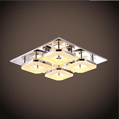 4 lights acrylic flush mount modern led ceiling lightfor for Flush mounted lights for bedroom