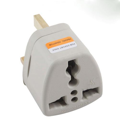 Travel Adapter Converter New US AU EU to UK 3 Pin Outlet AC Wall Power Plug #27336(China (Mainland))