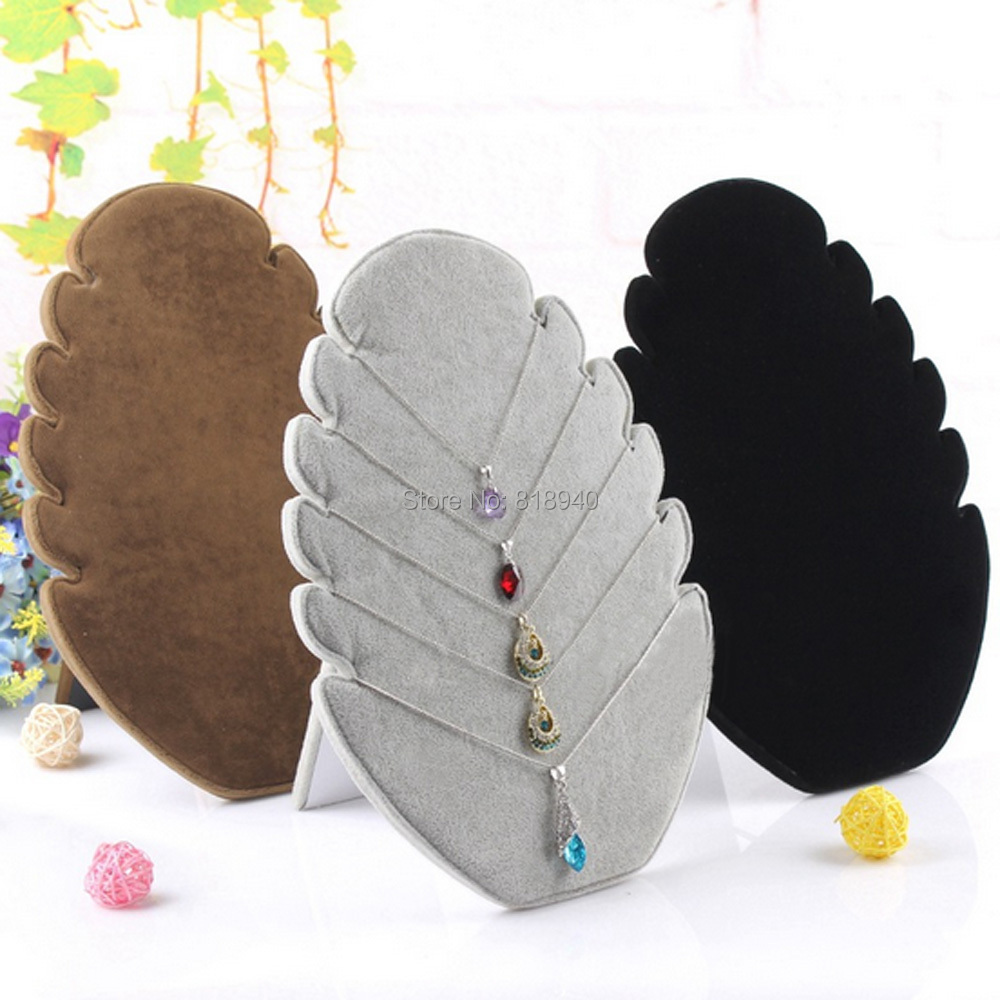 Necklace Pendant Chain Display Stand Jewellery Retail Holder Rack Velvet Black Random Color(China (Mainland))