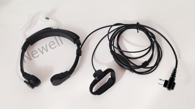 Free shipping high-grade Security PTT Throat Mic Headset/Earpiece for Motorola 2 Way Radio Walkie Talkie(China (Mainland))