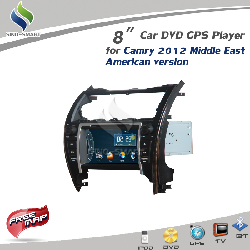 For Toyota Camry 2012 Middle East American version Built-in 8'' Car DVD GPS with IPOD TV Radio+CANBUS Player CE/ROHS/FCC(Hong Kong)