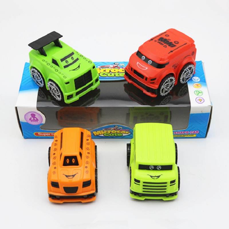 NEW Sale Kids Toys Pull Back Cars Cartoon Cute Mini Car Model Funny Toys Brinquedos Juguetes Educational Toy Gifts 4PCS