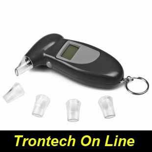 Digital screen Alcohol Breathalyser Breath Tester Analyser  Detector Blood Alarm FDA Car Kit Set simple fucntion
