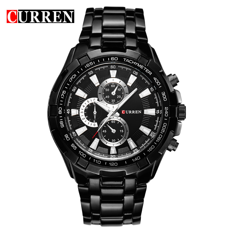 2016 new fashion Curren brand casual business men clock casual steel luxury male wrist sport quartz