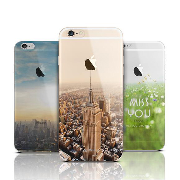 Ultra Thin Soft Silicone TPU Mountain Case Cover Apple iPhone 6 Luxury Fashion Transparent Back Phone - Get it Happy store
