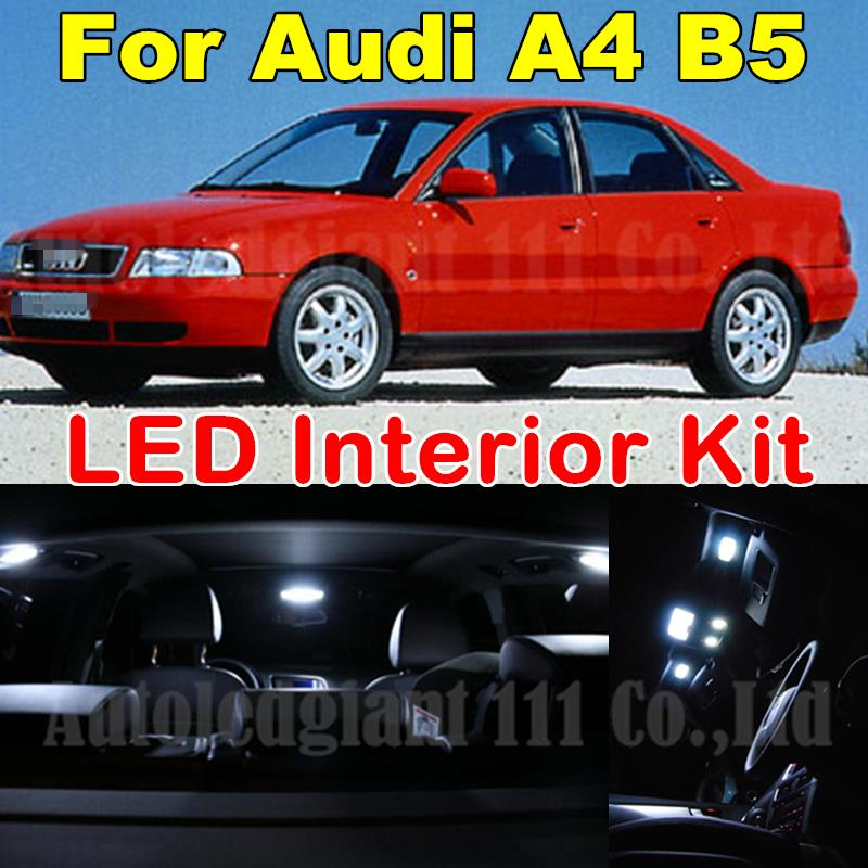 14pieces White Canbus Dome Footwell Glove Trunk Lighting Package for Audi A4 B5 S4 Sedan Avant LED Interior Light kit 1996-2001<br><br>Aliexpress