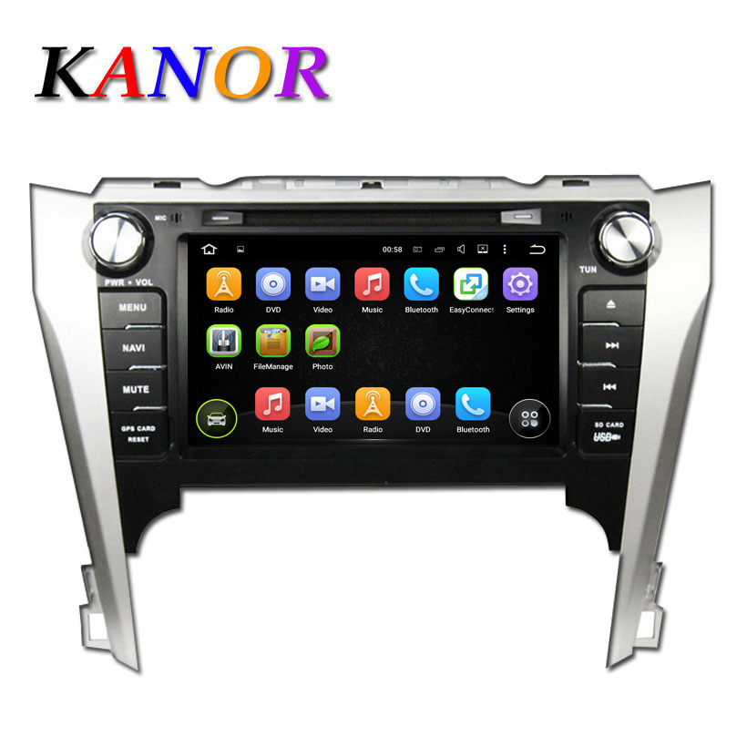 1024*600 For Toyota Camry 2012 Car Radio Android 5.11 Quad Core Cortex A9 DVD Player with Automotive Radio GPS Navigation System(China (Mainland))