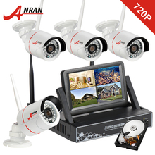 ANRAN Plug and Play Home Security & Surveillance – 4CH/7 Inch LCD/NVR/Wifi/1TB HDD