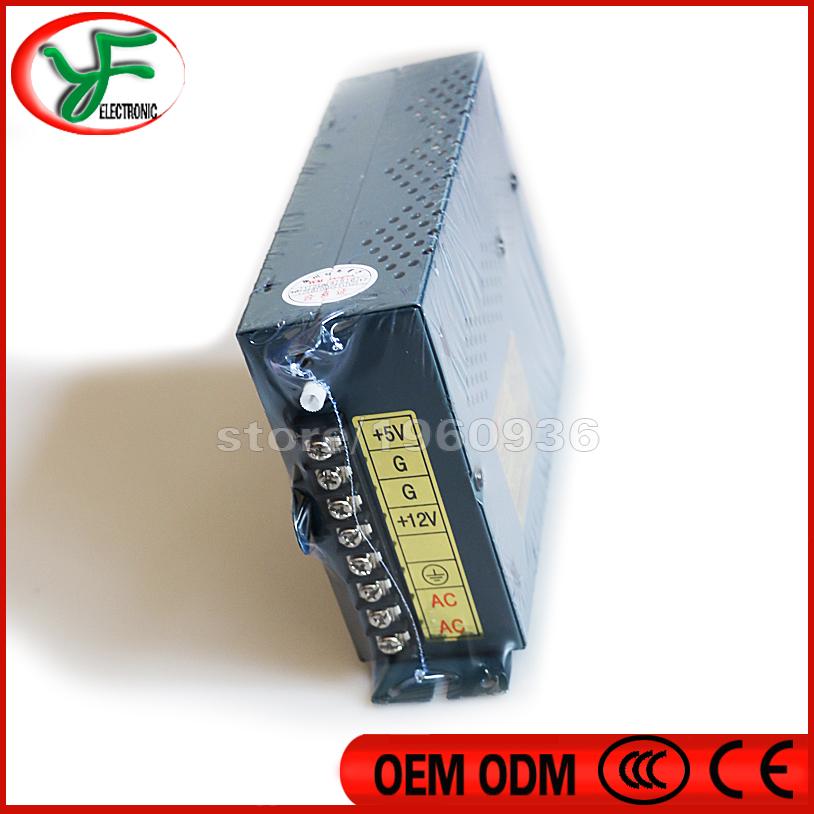 Free shipping 12V 6A / 5V 16A Arcade Switching Power Supply 110/220V Arcade Pinball Jamma Multicade for DIY Arcade machine parts(China (Mainland))