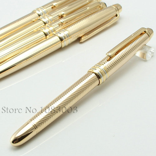 Solitaire platinum line legrand classic design gold metal with platinum-plated MOUNT fountain pen #213338(China (Mainland))