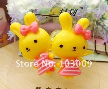 The striped rabbit of children's products hot models of high-quality hair accessories hair accessories hair ring f