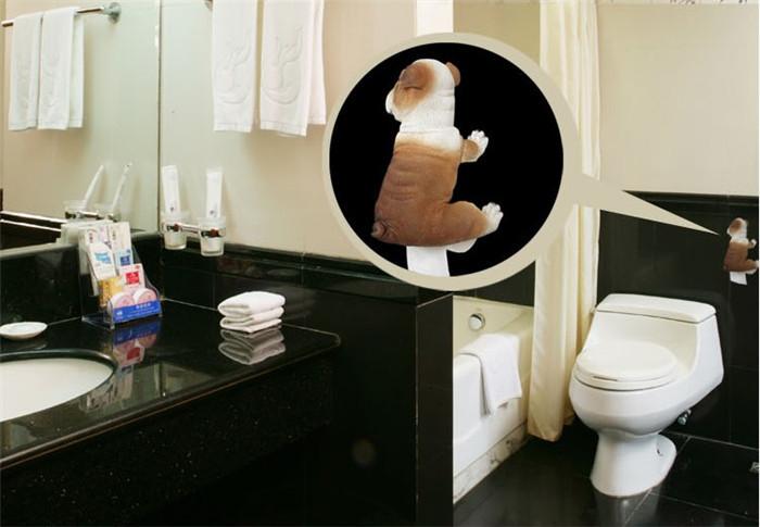 pug toilet rolls paper holder bulldog toilet tissue paper rack creative animal hanging paper. Black Bedroom Furniture Sets. Home Design Ideas