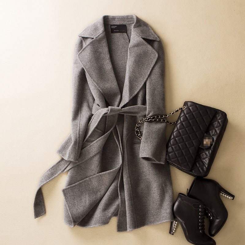 Ladies grey wool winter coat – Novelties of modern fashion photo blog