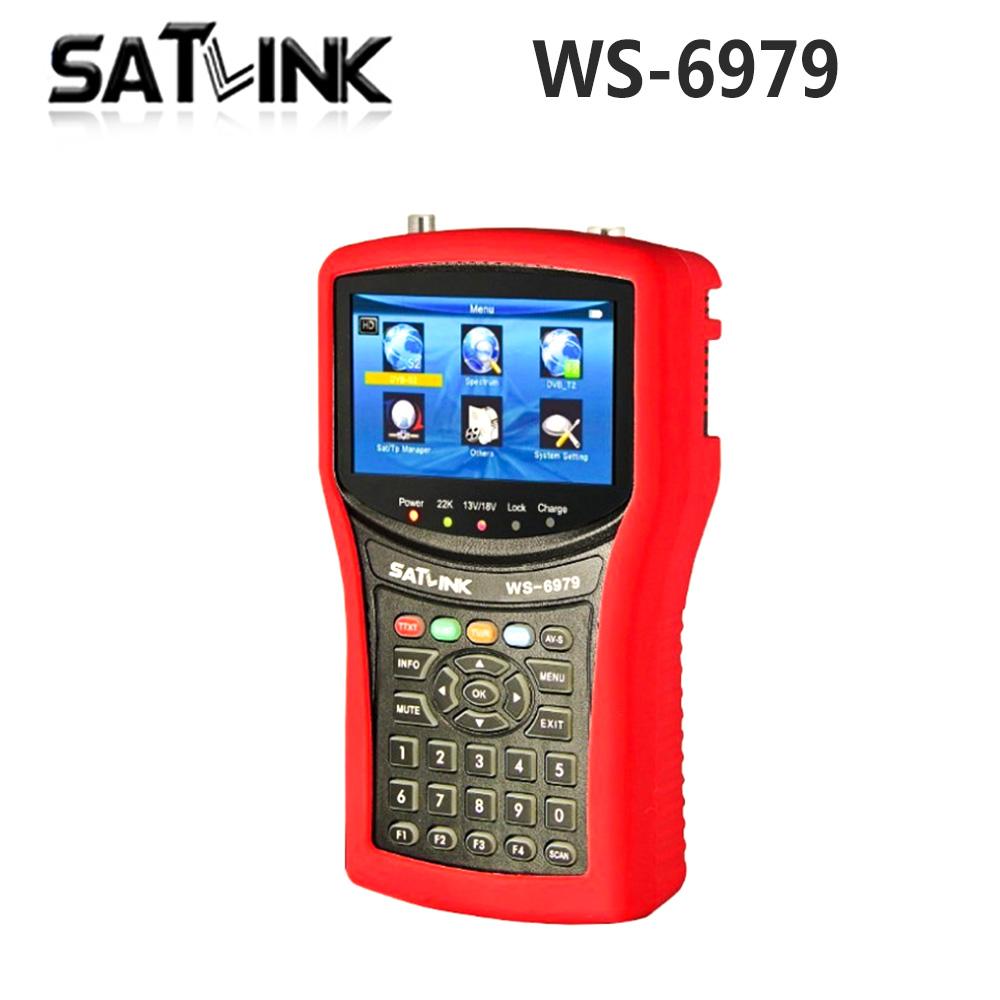 Original Satlink WS-6979 DVB-S2&amp;DVB-T2 Combo Satellite Finder Spectrum analyzer constellation finder<br><br>Aliexpress