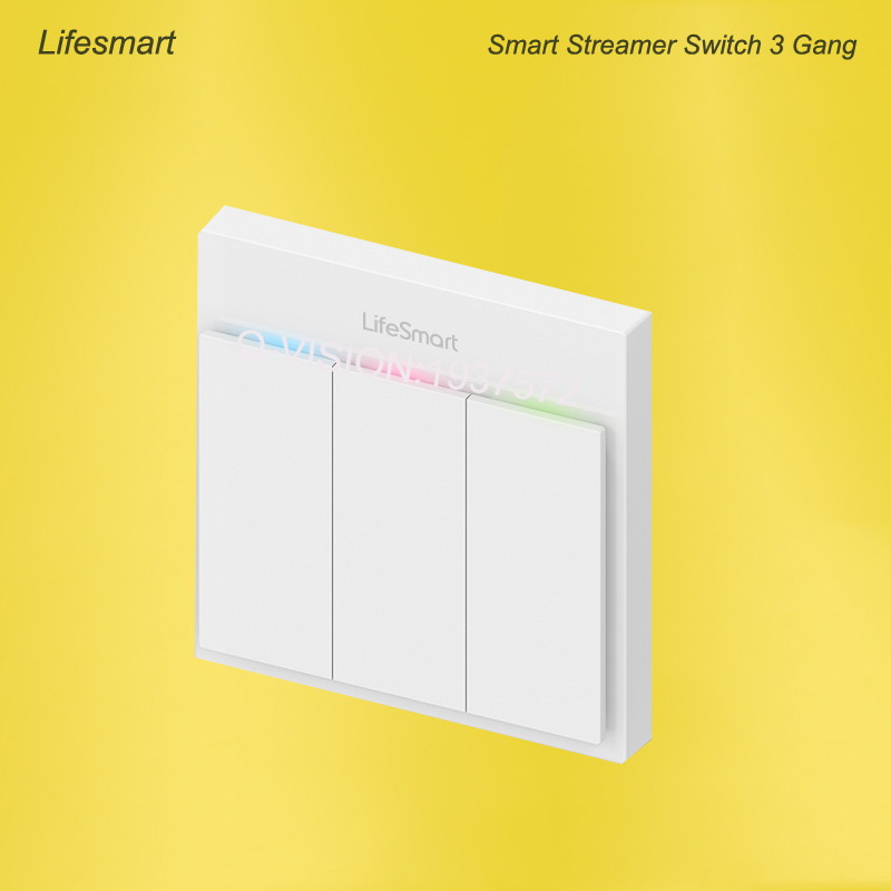 Lifesmart UK Type Blend Streamer Smart Switch Cell Phone APP Remote Control 16 million Color RF433 AC220V Smart Home IOS Android