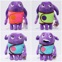 EMS 50sets 1set=4pcs Dreamworks Cartoon Movie HOME Oh Boov Plush Toy Stuffed Dolls With Tag (China (Mainland))