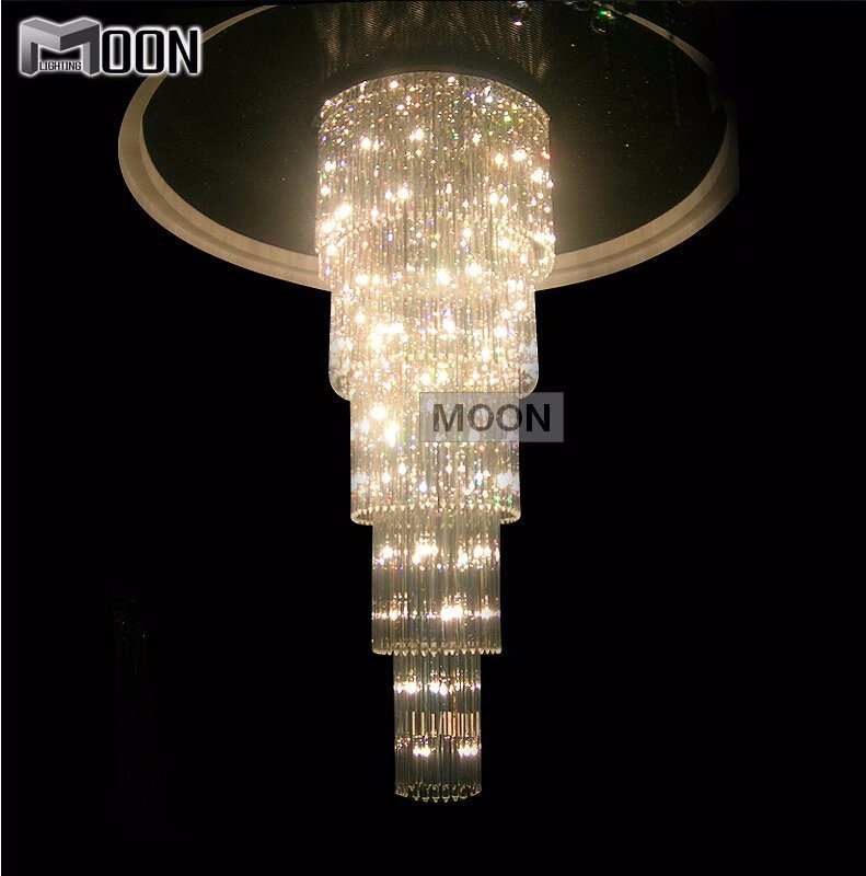 Crystal Glass Chandelier Light Fixture staircase Lustre, stairs, foyer Crystal Stair Lamp for hotel and project<br><br>Aliexpress