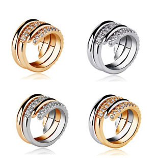 Serpiform cascading cool ring a variety of - white snake 2580 lovers ring