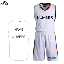 2016 Quick Dry 5XL Large Size Men's Basketball Jersey Sports Set Men Basketball Clothes Training Suit(China (Mainland))