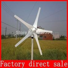 600 W макс ветровой турбины, Компактный для дома ветрогенератор, 5 лезвие, 12 / 24 v, С RoHS CE ISO9001 сертификации 3 года гарантии