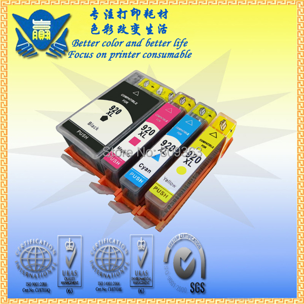 4 PCS china hot sell High quality Remanufactured ink cartridge with ink for HP 920 use in Officejet 6500 6000 7000(China (Mainland))