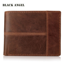 Buy Hot Vintage Casual Men wallets Crazy Horse Genuine Leather Cowhide Men Short Bifold multi-function card holder wallet purse for $13.88 in AliExpress store