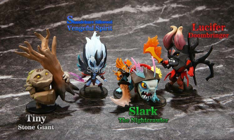 2015 new Anime WOW DOTA 2 Kunkka Lina Pudge Queen Tidehunter Rylai PVC Action Figures Collection Toys style - N&A Plaza store