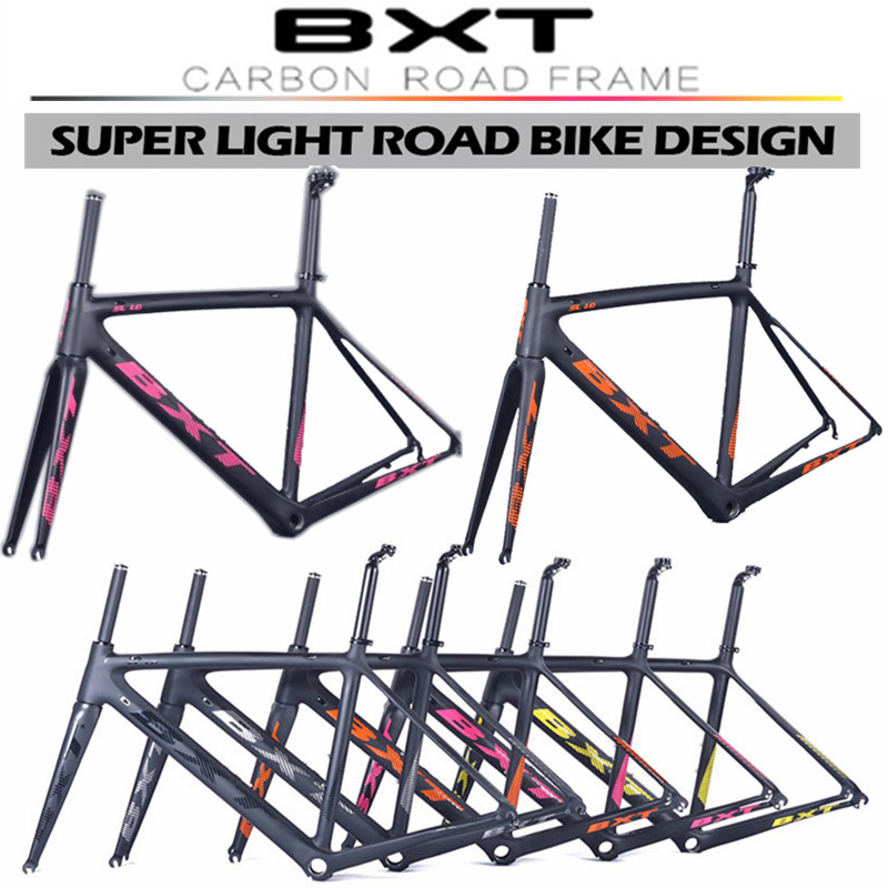 New products 2016 BXT Di2 Carbon Road Bicycle Frame Size:500/530/550mm Super Light Frame+Fork+headset 5 color carbon bike frame(China (Mainland))