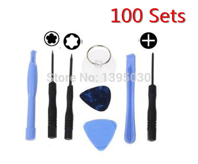 Free Shipping By DHL 100Sets/Lot(800pieces) 8in1 Screwdriver Repair Opening Pry Tool Kit Set for phone <br><br>Aliexpress