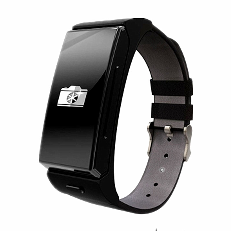 Uwatch U20/U Mini Leather Stainless Steel Wrist Bluetooth Headset & Smart Watch for Android IOS Phone with Heart Rate Monitor(China (Mainland))