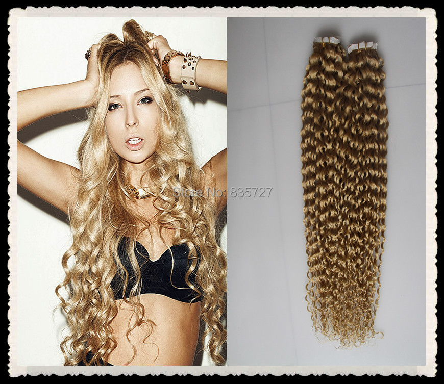 Strawberry Blonde Curly Hair Extensions Triple Weft Hair Extensions