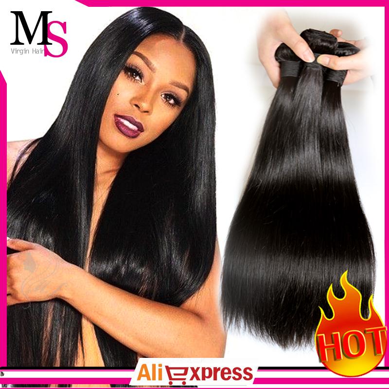 Unprocessed 7A Quality Brazilian Virgin Hair Straight Queen Weave Beauty Hair Ms Virgin Hair Cheap Virgin Brazilian Hair Weave(China (Mainland))