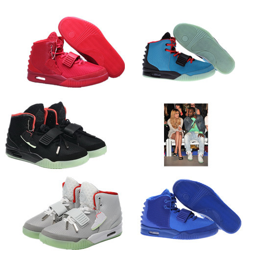 Горячая распродажа высокое качество мужчины баскетбольной обуви канье уэст yeezy ii 2 красный черный октябрь кроссовки для мужчин размер 7-13, бесплатная доставка
