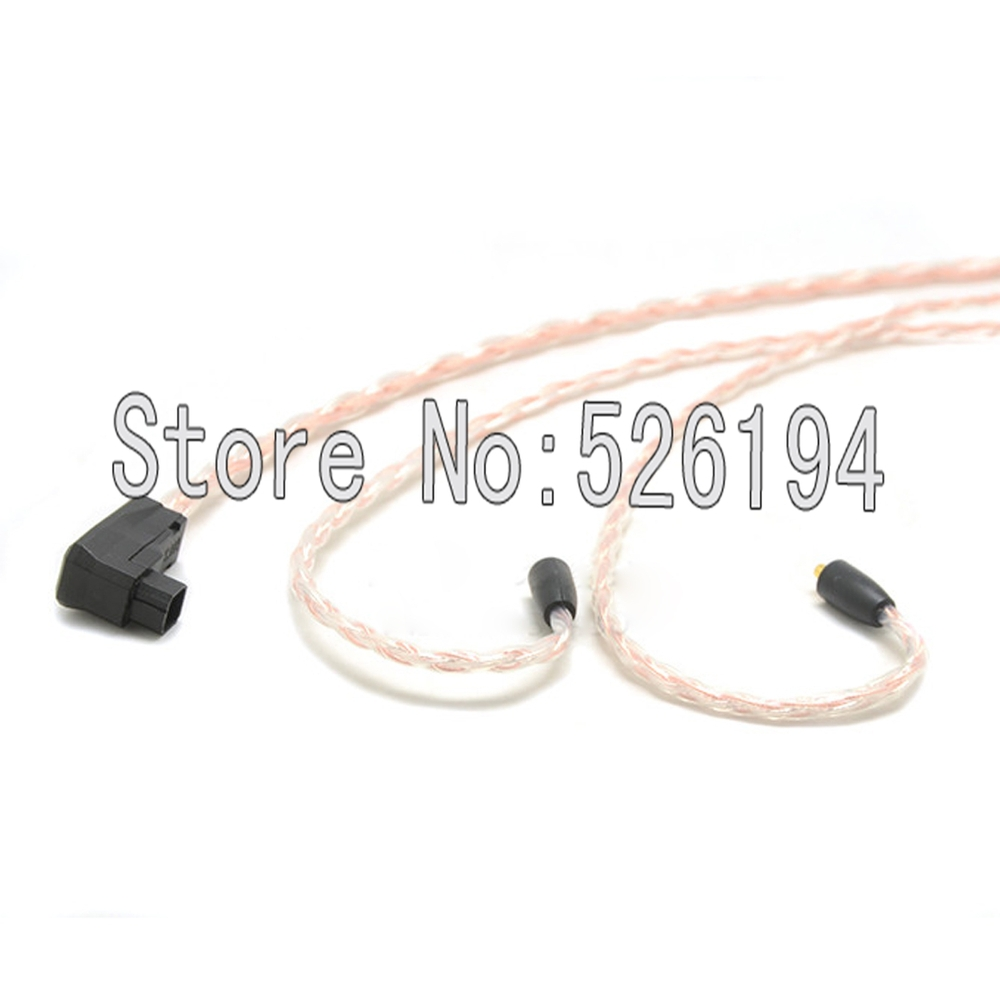 Free shipping RSA/ALO to SE846 plugs 5N pure copper OFC Cable For SE215 SE315 SE425 SE535 SE846 Headphone cable