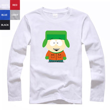 Kyle Broflovski south park couple clothes woman sports long sleeve T-shirt(China (Mainland))