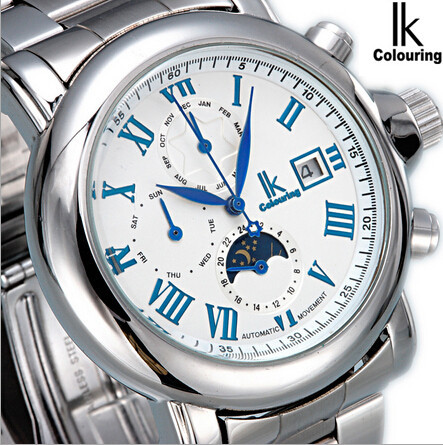 Authentic IK path of gemany six needle automatic multi-function table calendar week business mens watch gone 98168 g<br><br>Aliexpress