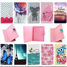 For Apple iPad Air 2 case Print pattern Design Folio PU Leather book cases for iPad 6 Cover Tablet Accessories S4D69D(China (Mainland))