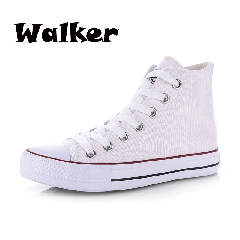 Classic high spring and autumn female canvas shoes skateboarding shoes casual shoes lovers flat-bottomed single shoes