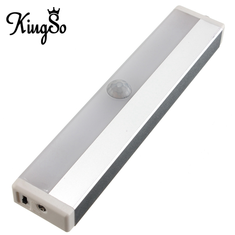 Top Quality Kingso 3.7V 0.3W 10 LED USB Charging Rechargeable Wireless PIR Motion Sensing Closet Cabinet LED Night Light<br><br>Aliexpress