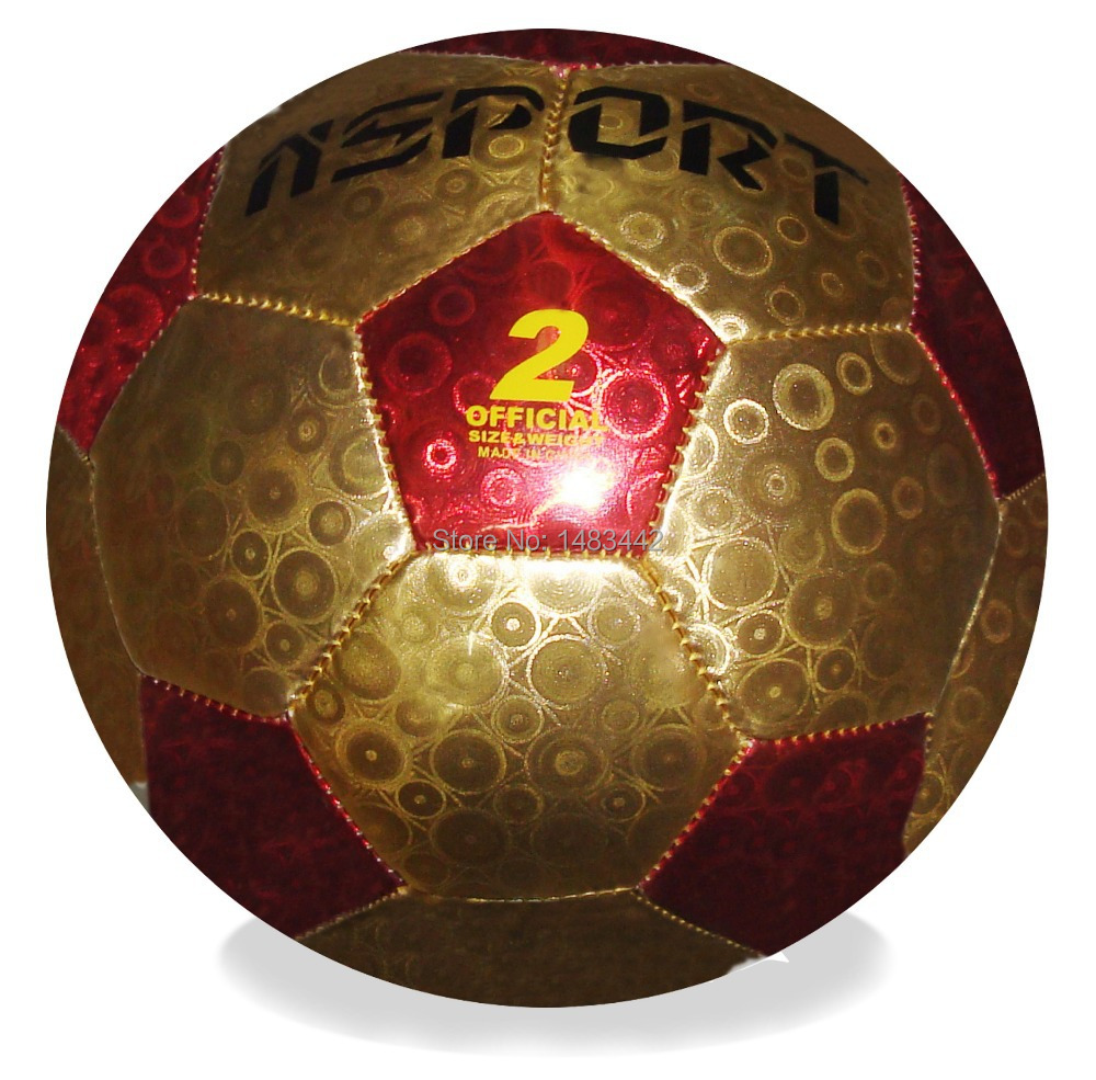 Free Shipping size 5 football machine Stitched PVC Laser leather Children Ball soccer Football ball High quality GY-W100(China (Mainland))
