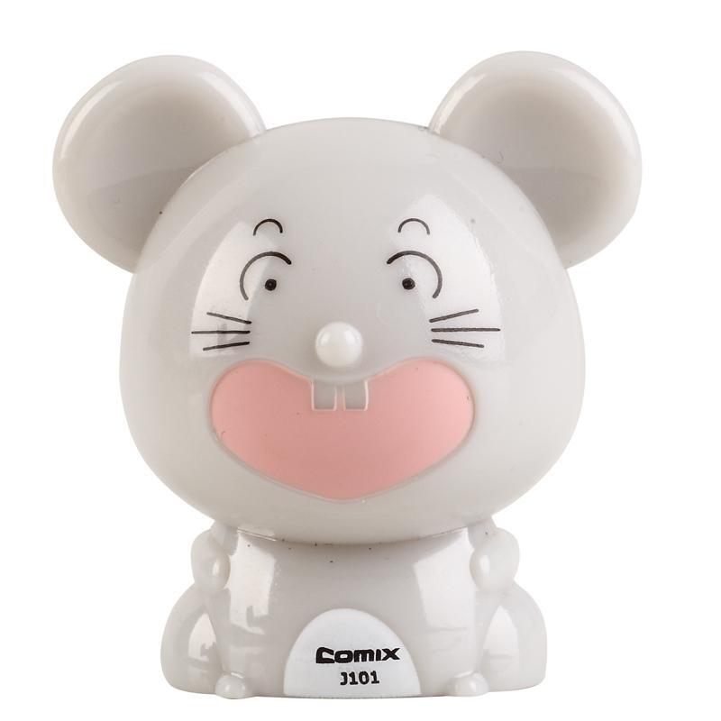 COMIX Fashion Cute & Funny Twelve Animal Shape Mini Pencil Sharpener For Kids Banya Mouse(J101)(China (Mainland))