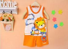 Brand New Children's Set Baby Kid's t-shirts For Girls Boys Clothes t shirt+pants Undershirt Shorts Clothing Set(China (Mainland))