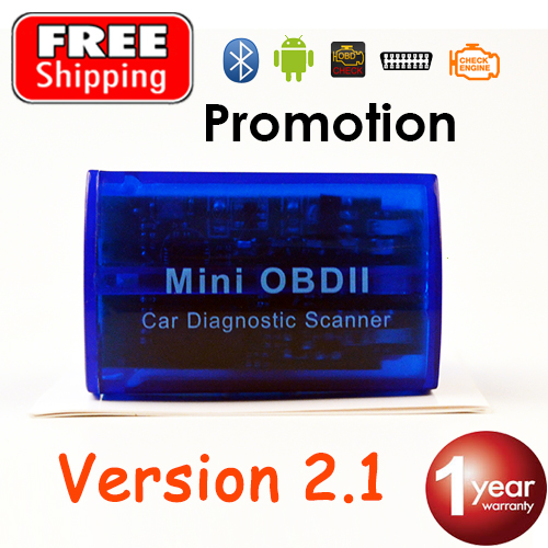 Bluetooth Super MINI ELM327 V2.1 OBD2 Car Scanner ELM 327 Code Reader OBDII for Android Smartphone FREE SHIPPING and promotion(China (Mainland))