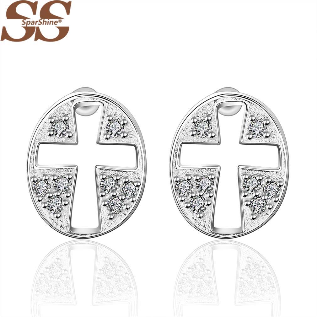 product SparShine Bijoux Fine Jewelry Earings Brinco 925 Sterling Silver Pendientes Meus Pedidos Brincos Grandes Oorbellen For Women