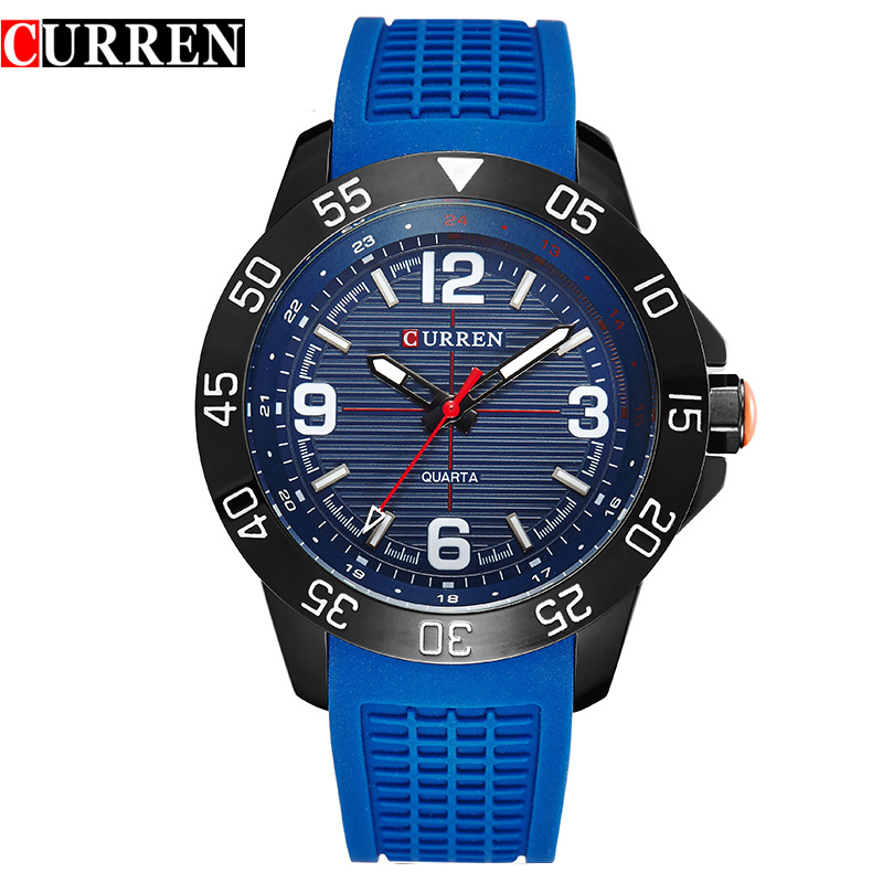 2016 new fashion Curren brand design business army men male clock casual military luxury wrist quartz sport gift watch 8181(China (Mainland))