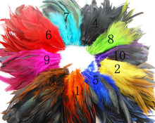 Free shipping Hot sale 50pcs/lot 12-18cm Multi-Color Dyed Badger Saddle Rooster feather Hair extension adornment