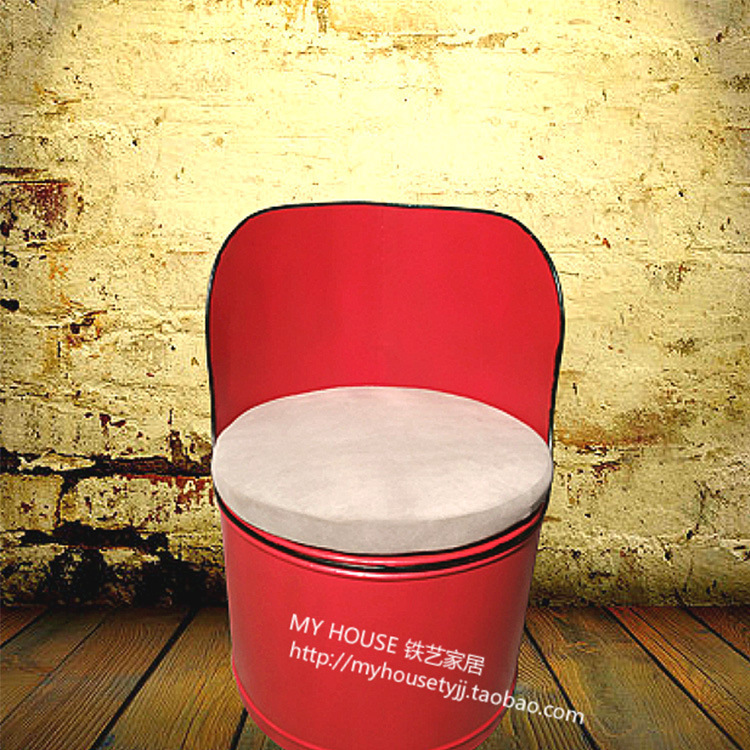 American specialties LOFT chairs Cafe Bar Lounge chairs creative personality retro nostalgia bucket of gasoline<br>