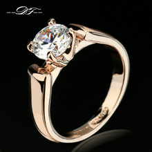 Buy Double Fair 1.25 Carat Round Cut Cubic Zircon Engagement Rings Silver/Rose Gold Color Wedding Jewelry Men/Women Anel DFR054 for $2.44 in AliExpress store