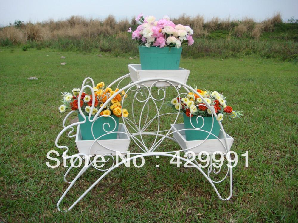 Hot Rabbit Stand Home & Garden Flower Planter Stand ,Creative Decorative Planter Stand,K/D(China (Mainland))
